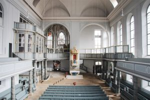 Kirchenraum von St. Gumbertus. Foto: Hans-Martin Goede