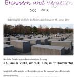 Erinnern und Vergessen 1933 - 2013: Gedenkgottesdienst in St. Gumbertus
