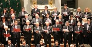 Die Ansbacher Kantorei 2013 beim Konzert am 31. Oktober 2013 in St. Gumbertus. Foto: Hans-Martin Goede