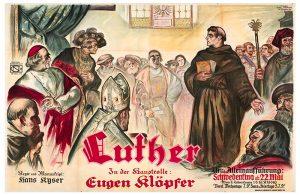 """Filmplakat """"Luther"""", der Hans Kyser-Stummfilm von 1927"""